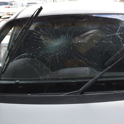 Before Photo Shattered Car Windscreen Adelaide